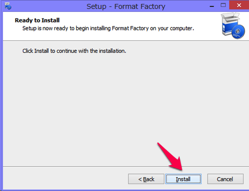 Format Factoryのインストール