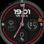 ハロウィンの時期だからかAndroid Wearのフェイスにショートカットボタン出現