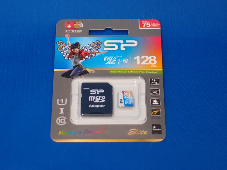 シリコンパワーのmicroSD 128GB title=