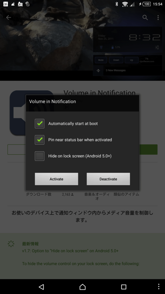 Volume in Notification
