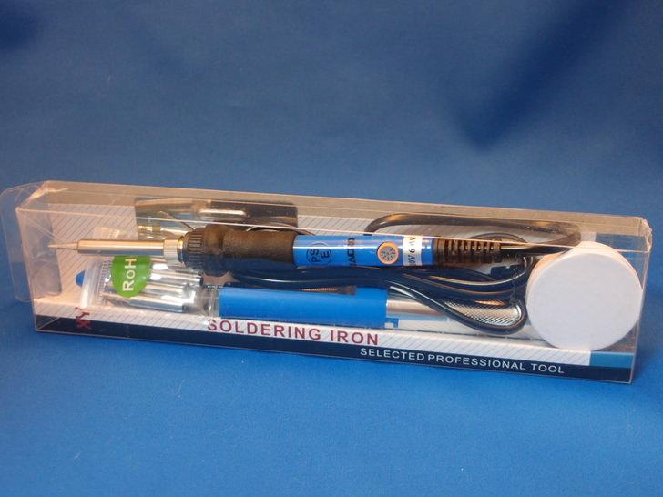 Zacro 電子はんだこて セット 半田こて 温度調節可能(200~450℃)5個交換コテ先付き 多用途 60W 110V