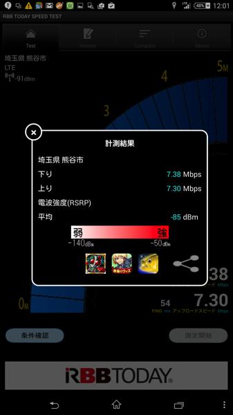 Biglobe LTEの速度