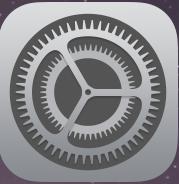 iPhone設定アプリ