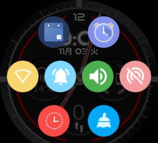 Android Watchのショートカットアイコン
