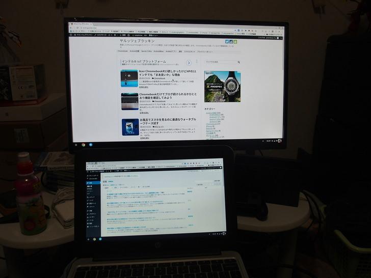 ChromeBookとフルHDディスプレイつなぐHDMIケーブル