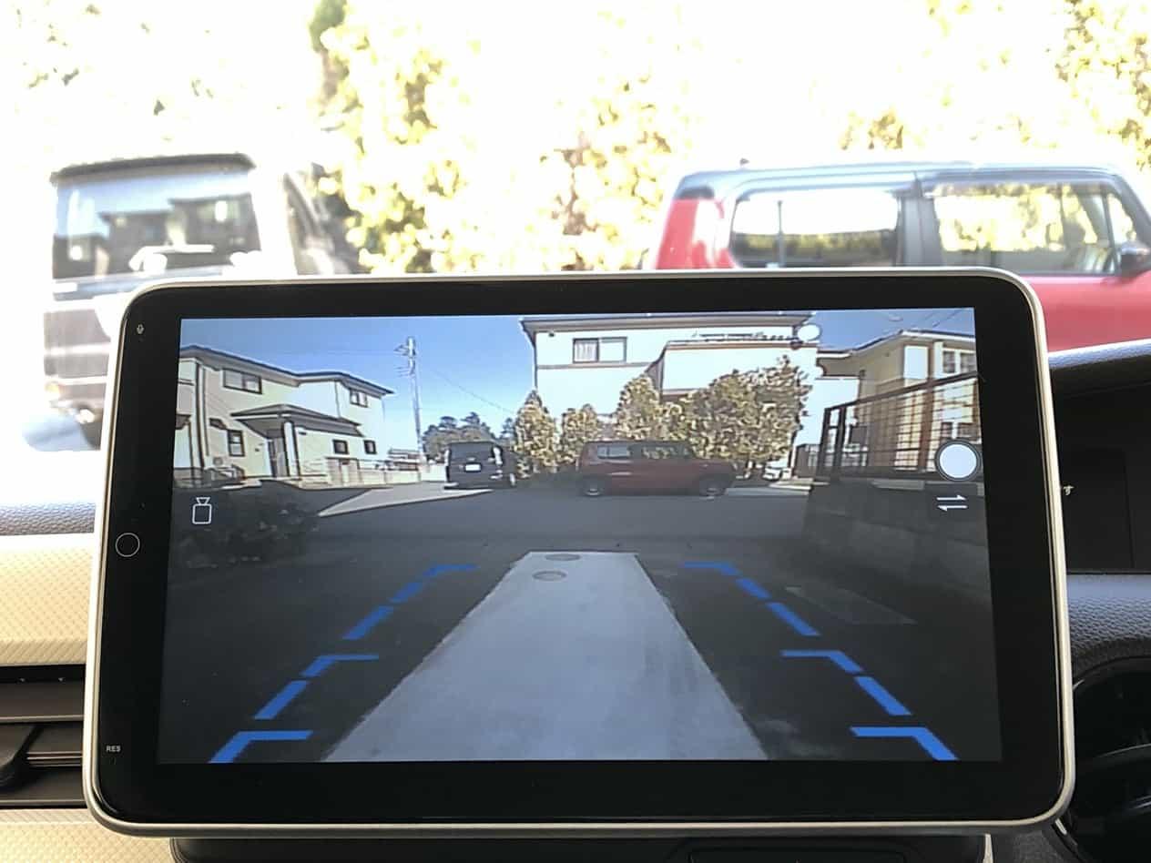 N-BOX(JF3)のAndroidカーナビにフロントカメラ