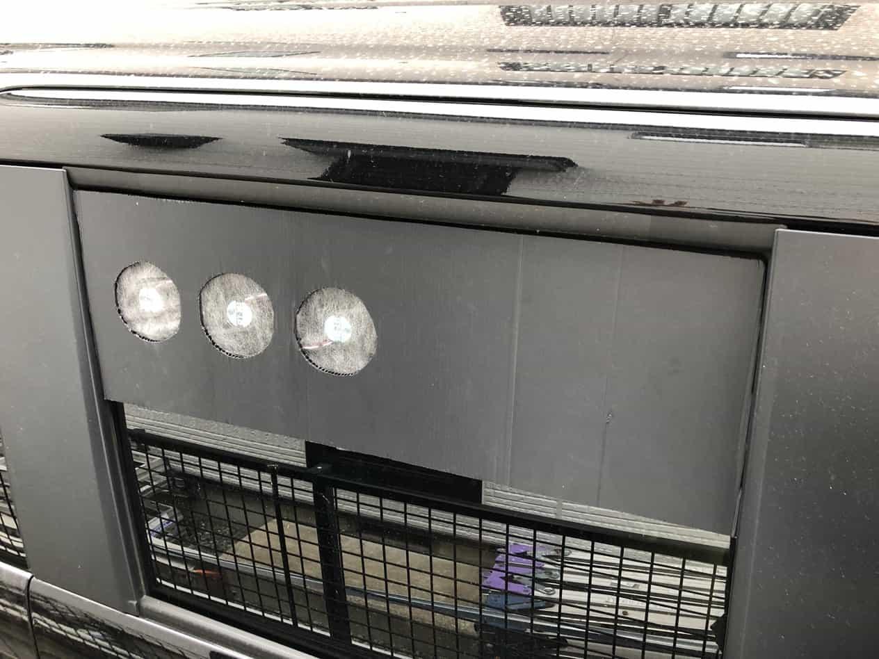 N-BOXに換気扇